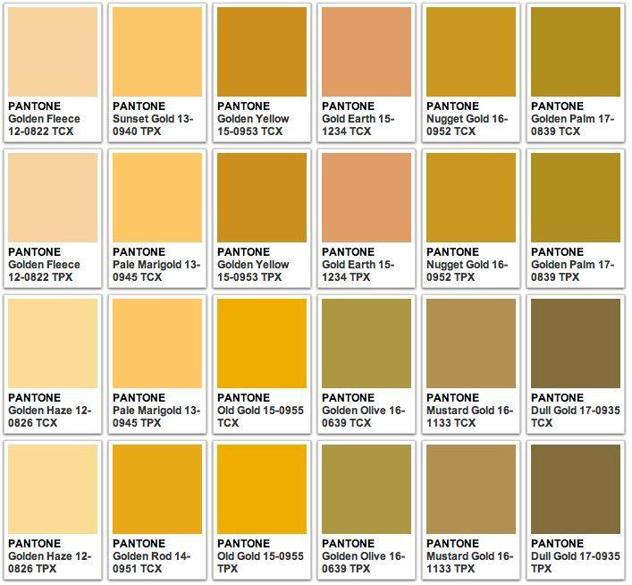 pantone gold - Pesquisa Google