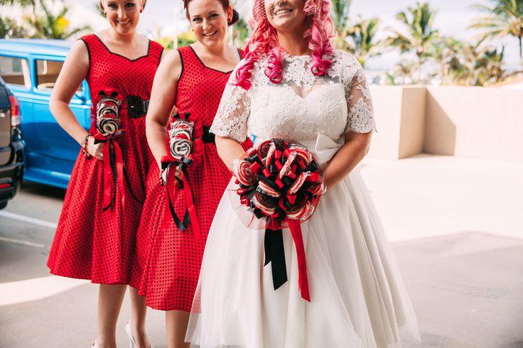 Lutscher für den Brautstrauß! #Hochzeit #Wedding #BridalBouquet #Bride #rotweiß