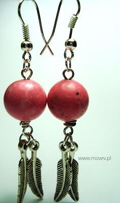 www.movev.pl |kolczyki: różowy howlit