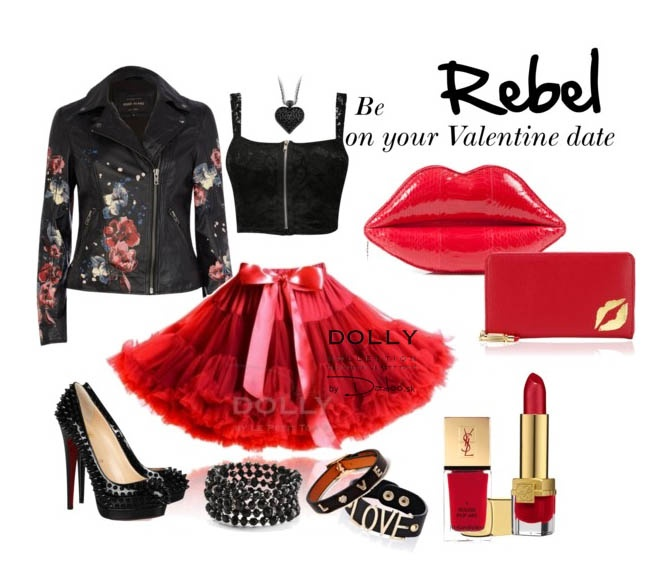 be REBEL on your Valentine's day! Little red riding hood DOLLY pettiskirt
