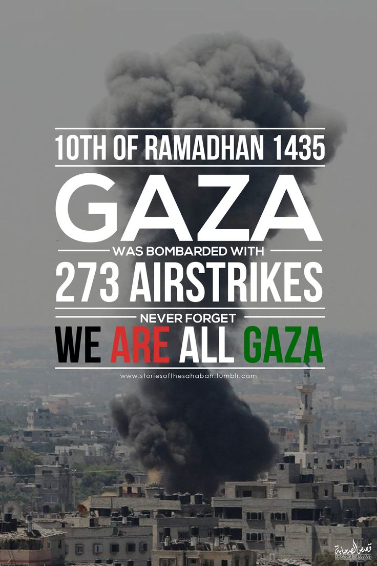 """storiesofthesahabah: """"Gaza was bombarded with 273 airstrikes yesterday (8th July). That's an average of 11 an hour.May Allah end their pain and safeguard them always, and grant Jannatul Firdaus to those who have died on this massive attacks. May He give justice to the Muslims, ya Allah we call for your help, forgive the Muslims ya Allah, send out your Help just like how you have helped the Muslims during the battle of Badr!-  Amin Amin Amin"""