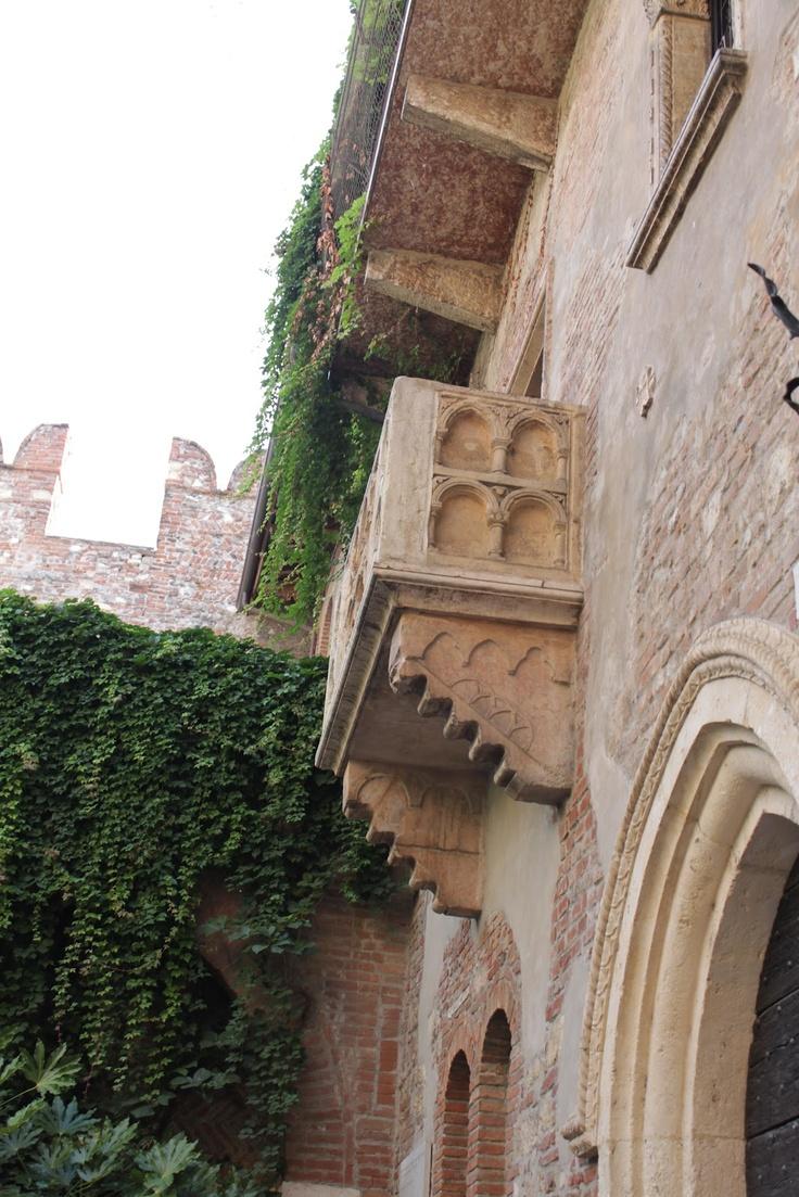 Julias balcony in Verona, Italy
