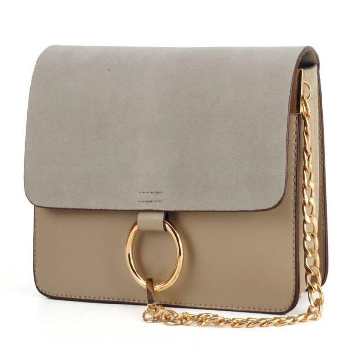 New Suede Leather Women Flap Crossbody Bag