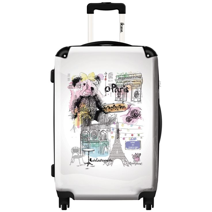 iKase 'Lulu Castagnette in Paris' 24-inch .Hardside Spinner Luggage
