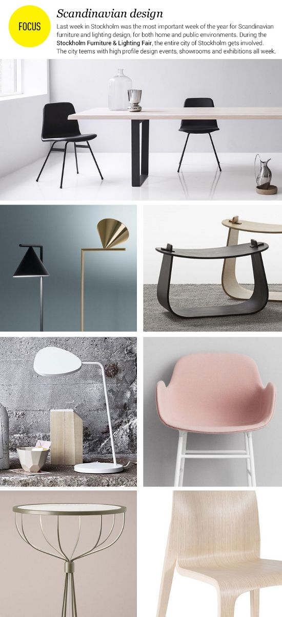 #Scandinavian #design - Last week in Stockholm was the most important week of the year for Scandinavian furniture and lighting design, for both home and public environments.