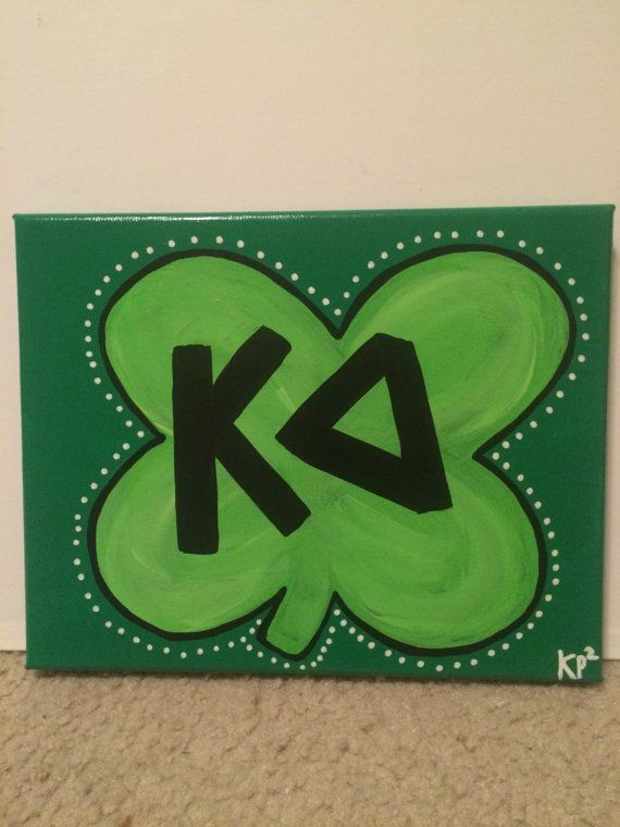 Kappa Delta Shamrock Sorority Canvas by KimberlyPaigePorter