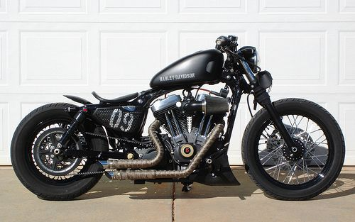 Nice black fat harley #bike #harley #davidson