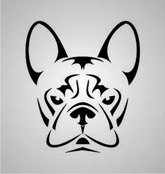 Little Dog Face Tribal vector