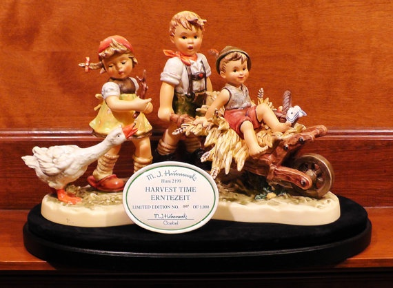 #Harvest Time #Hummel 537/1000 VERY Rare Porcelain Figurine German Hand Painted Collectible #Goebel