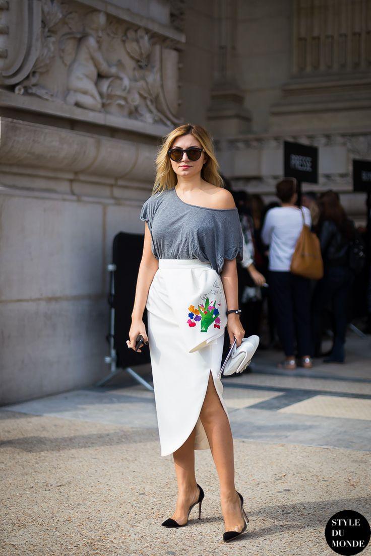 Nasiba Adilova Street Style Street Fashion by STYLEDUMONDE Fashion Week Street Style Blog