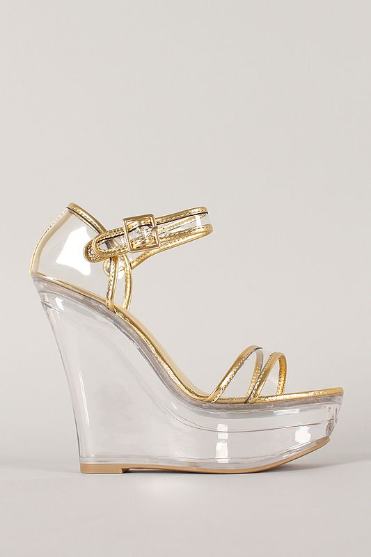 High Heel Clear 5 Color Wedge Size Sandals