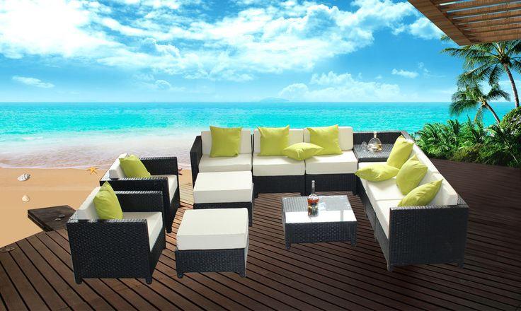 18 best Outdoor Living images on Pinterest Backyard furniture - designer gartensofa indoor outdoor