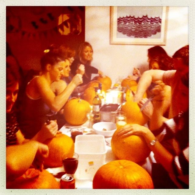 Pumpkin Carving Party at Shells