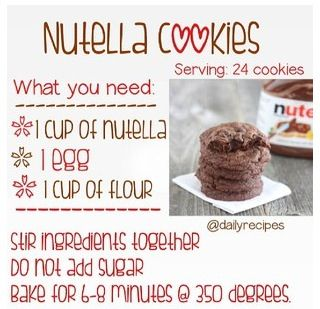 Very easy Nutella cookie recipe!