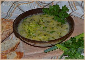 Zdravá pórková polévka