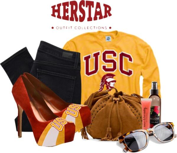 """University of Southern California HERSTAR Fashion"" by missmelika on Polyvore"