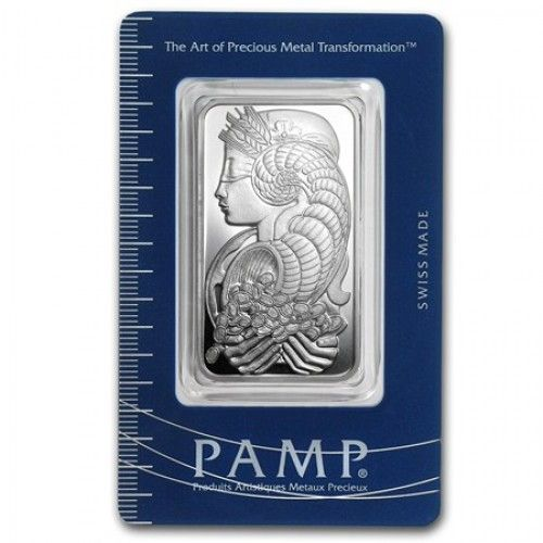 PAMP Suisse 1 Oz Silver Bar  For anyone that is looking to invest in small amounts of silver in order to begin or diversify their investment portfolio, 1 ounce silver bars are one of the best places to start. These bars have a troy ounce of silver in them and also have .999 pure silver in them. http://www.bulliontradingllc.com/pamp-suisse-1-oz-silver-bar