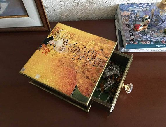 Gustav Klimt Adele Bloch Bauer Jewelry Box Wood Wooden jewelry