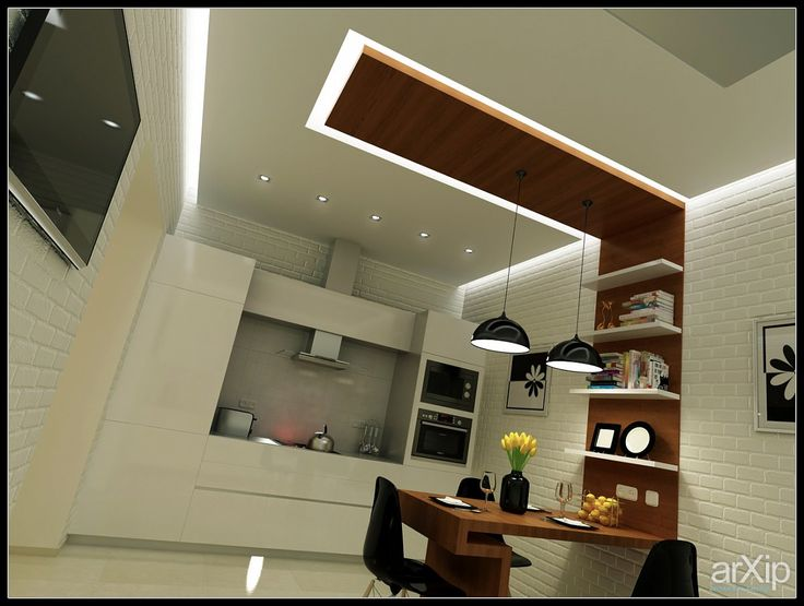 кухня молодой семейной пары интерьер, назначение - квартира, дом   тип - кухня   площадь - 20 - 30 м2, 30 - 50 м2   стиль - современный, модернизм. Разместил PRimeART на портале arXip.com