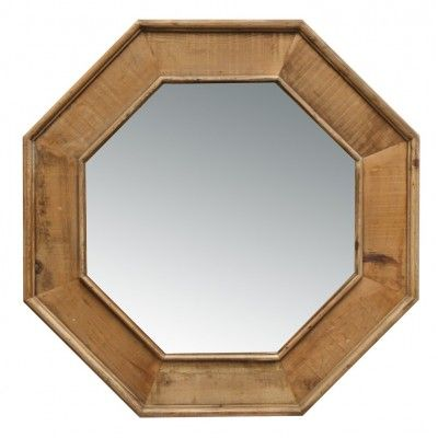 Recycled Wood Octagonal Mirror