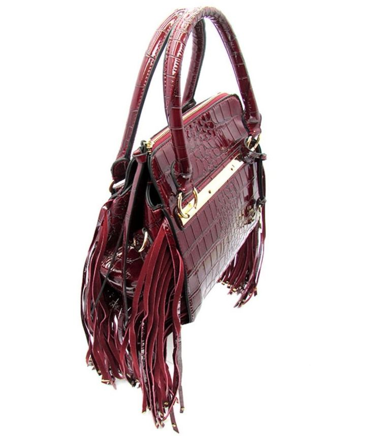 fringe accent purse