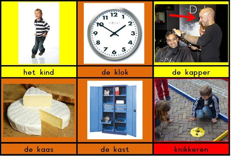 Klankkaartjes met woord voor het aanleren van de klank /k/
