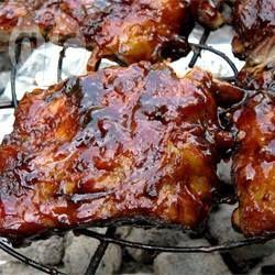 Ribbetjes van de barbecue