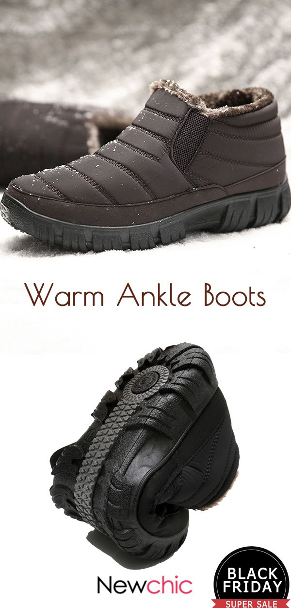 dc7321879b  48%off Men Stripe Warm Lined House Outdoor Casual Ankle Boots.  mens  boots   warm  winter  footwear