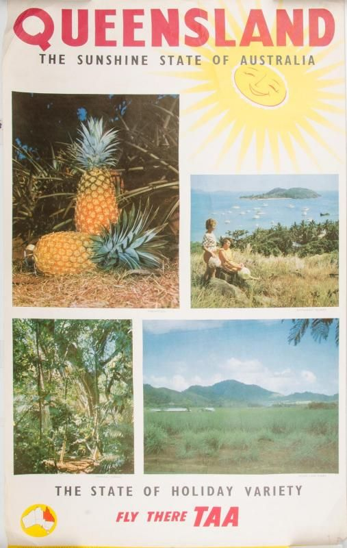 Queensland, the sunshine State of Australia - Fly there TAA - 1960's -