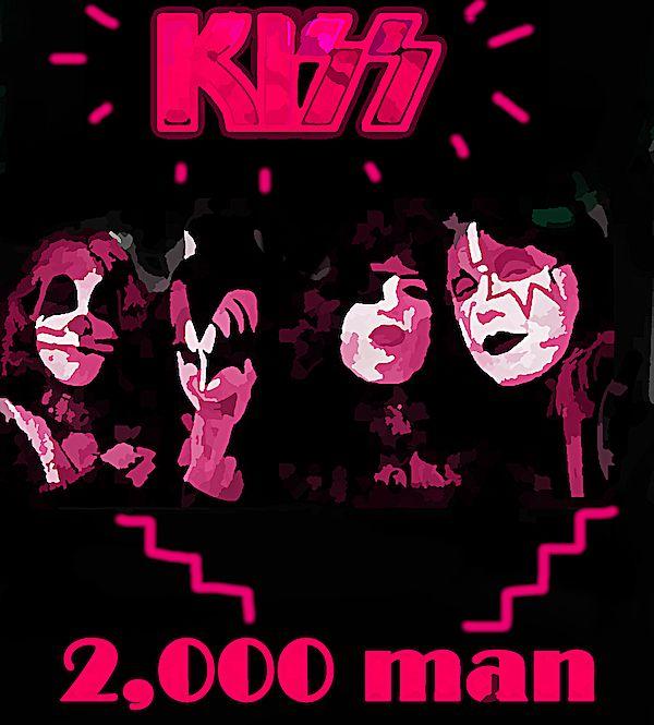Kiss 2000 Man 1979 Art Wall Art Kiss Art