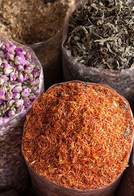 Dubai's historical Spice Souk boasts an array of prized spices and exotic fragrances like saffron, frankincense, and myrrh. #FIJIWATER #TRAVEL