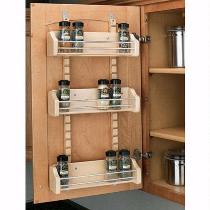 Adjustable Door Mount Spice Racks, Rev A Shelf 4ASR Series