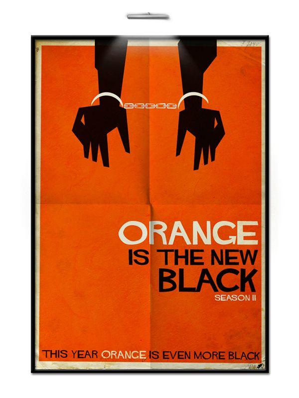 Orange is The New Black Season Saul Bass II by Federico Mauro, via Behance