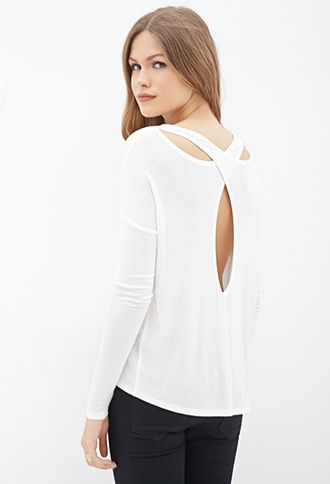 Cutout Back Knit Top | FOREVER21 - 2000070696