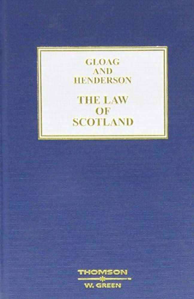 Read Now Gloag And Henderson The Law Of Scotland Book And