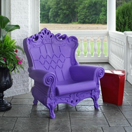 Queen of Love Chair in Purple Sunset