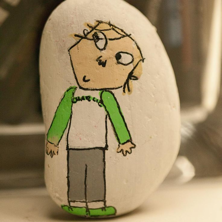 Charlie from Charlie and Lola, pebble art