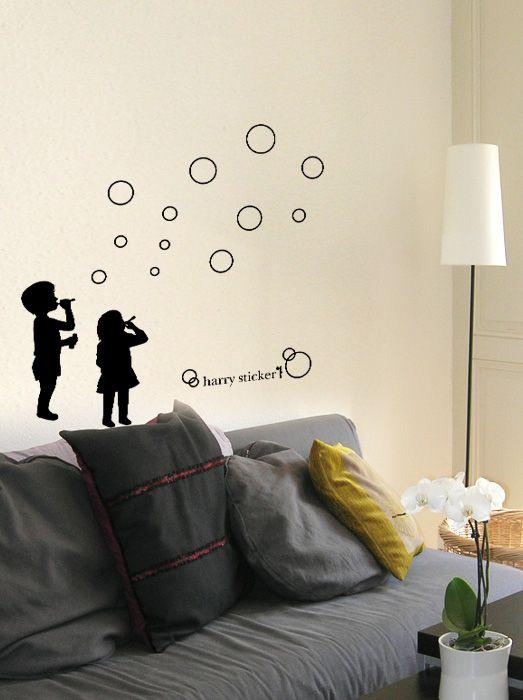 wallsticker bubble Wallpaper interior Design