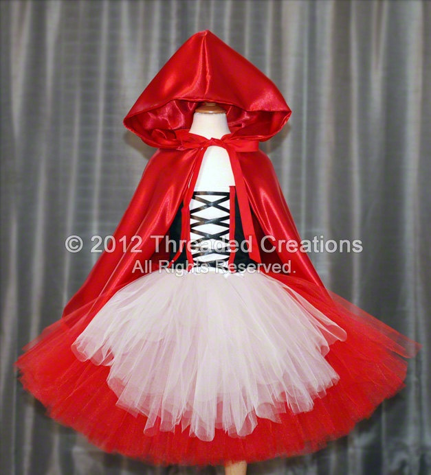 Little Red Riding Hood Tutu Dress and Cape - Little Red Riding Hood Dress. $110.00, via Etsy.