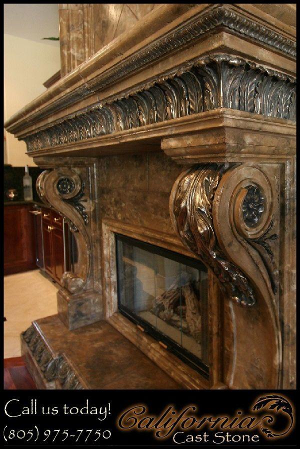 stone fireplace surrounds | Cal Cast Stone Fireplace Surround Salinas CA