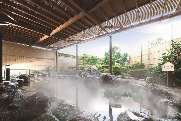 露天岩風呂(新美里温泉 長寿の湯)