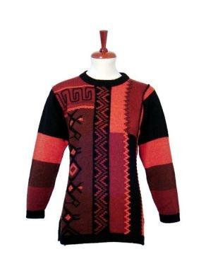 Roter design Motiv #Damen #Pullover, #Alpakawolle