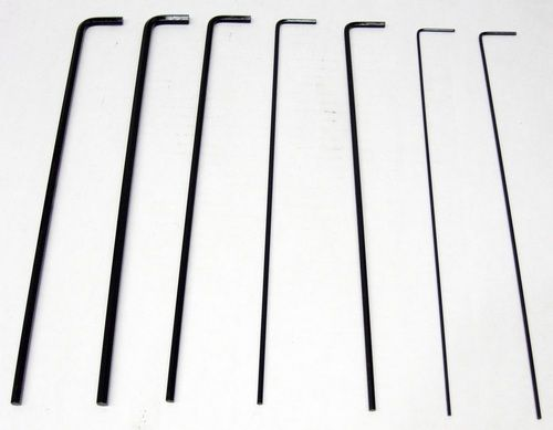 7 Piece Hex Key Set MA-1201 3/32, 5/64, 1/8, 5/32, 3/16, 7/32, 1/4