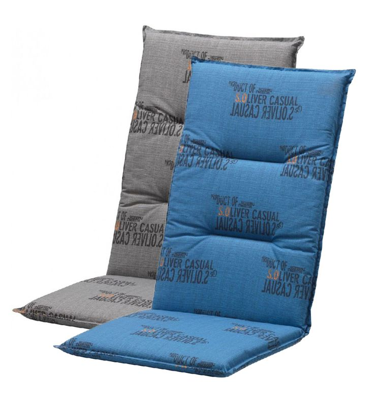 Tuinkussen voor de verstelbare stoel met moderne print.