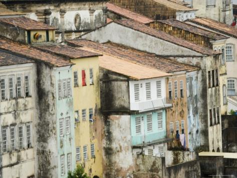 Colonial Architecture in Carmo Neighborhood, Pelourinho Area of Salvador Da Bahia, Brazil