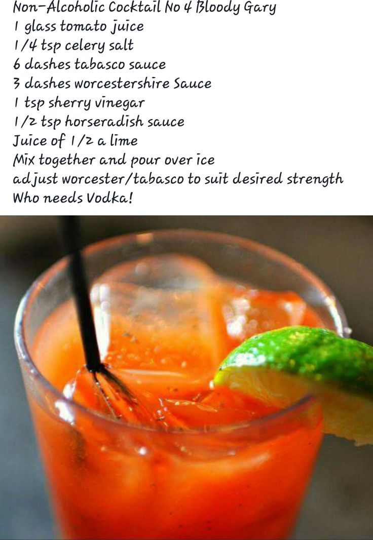 Non alcoholic bloody mary