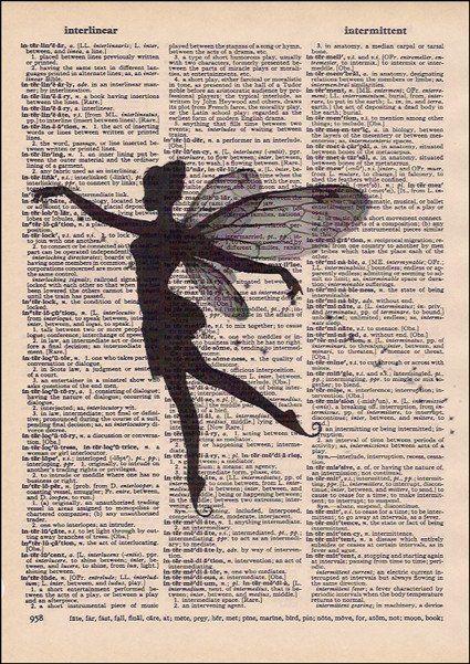 Spiritual fairy dust dictionary art prints pinterest for Forward dictionary