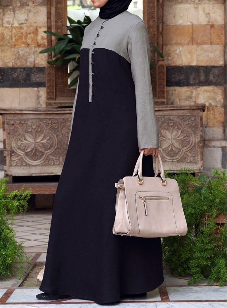 Bi-Color Abaya - SHUKR International