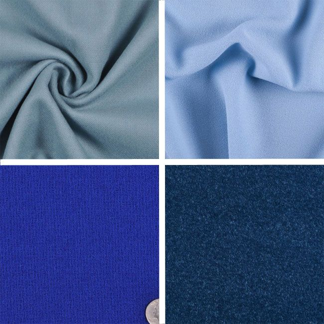 Some of our favorite blue wool fabrics this season. #moodfabrics