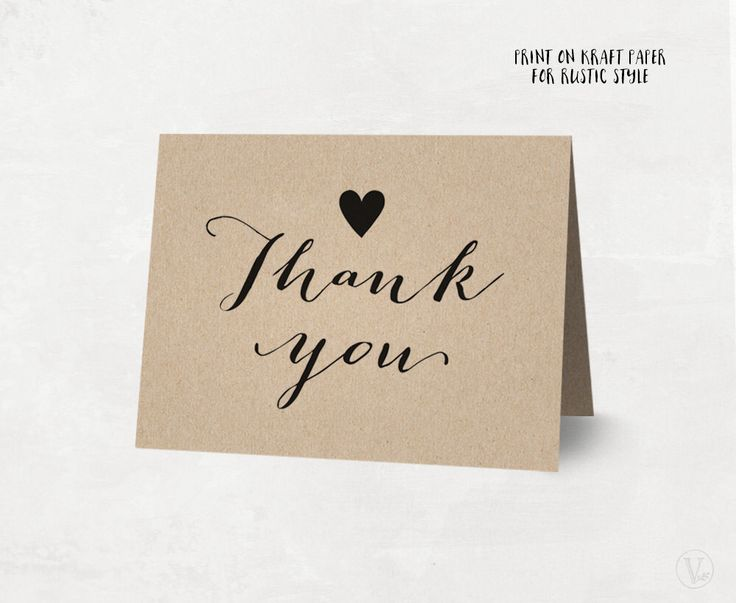 Printable Thank You Card, Rustic Wedding Thank You Card Template, Kraft Thank You Card - Instant DOWNLOAD - 4.25 x 5.5 inches folded, TY02 by VineWedding on Etsy https://www.etsy.com/ca/listing/273707772/printable-thank-you-card-rustic-wedding